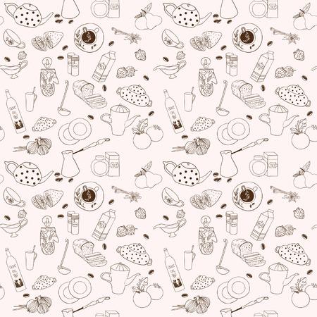 utensils: Seamless vector kitchen background