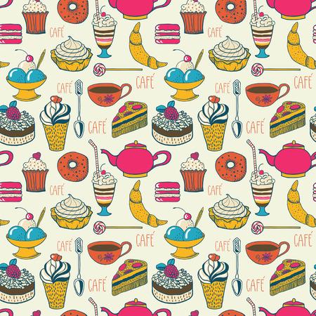 meringue: Cafe pattern