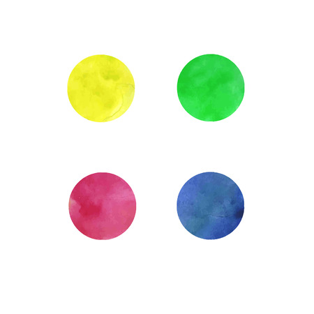Watercolor rounds in vector Vector