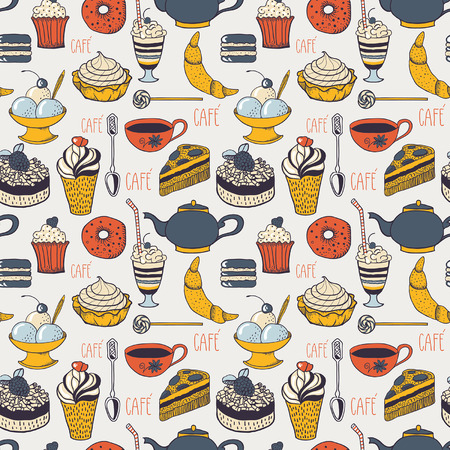 Cafe pattern Vector