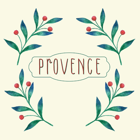 provence: Watercolor floral background with provence theme