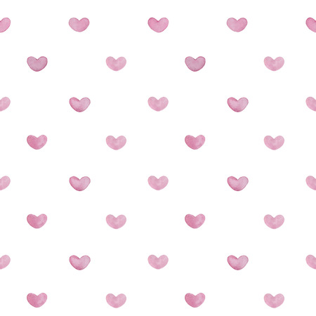 Watercolor heart pattern Vector