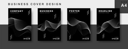 Set of business cover design