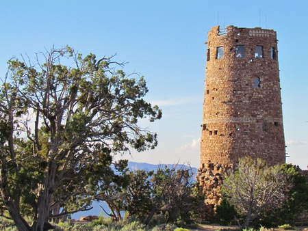 watchtower: Watchtower over the Canyon Editorial