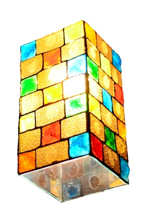 Colorful Glass Lamp Box photo