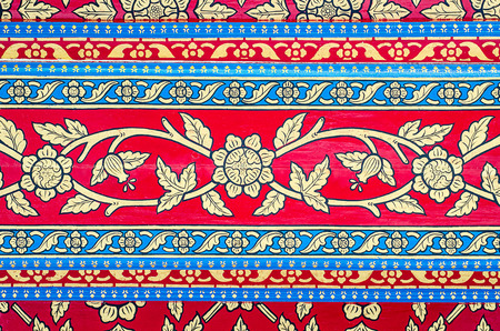 traditional Thai style art painting on Ceiling of the temple Stock Photo - 25609856