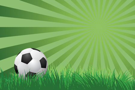 voetbal op groen gras vectorillustrationEPS10