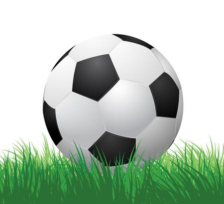 voetbal bal op groen gras vector illustratie EPS10