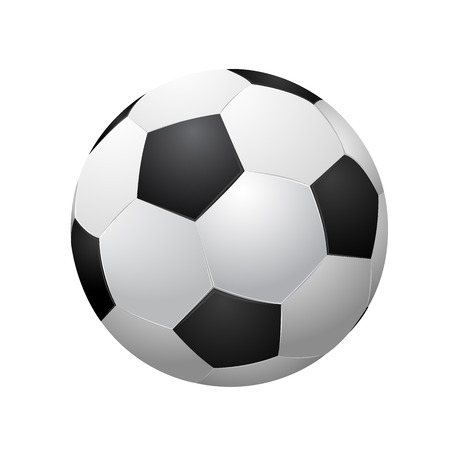 soccer ball isolated on white background  vector illustration EPS10 向量圖像