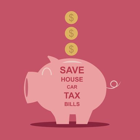 Spaarpot geld te besparen Vector illustratie EPS10 Stock Illustratie