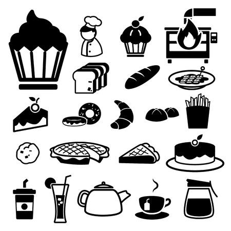 Bakkerij pictogrammen instellen