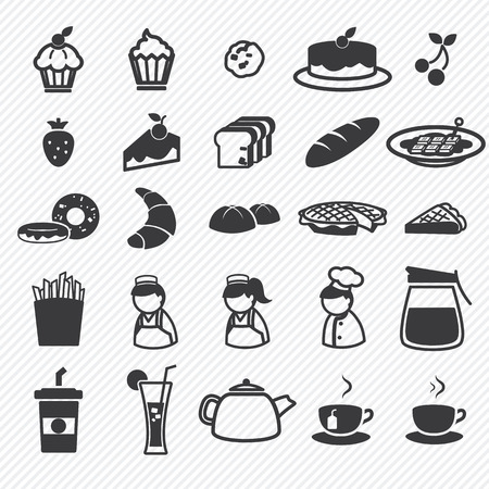 Bakery icons set   向量圖像