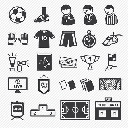 soccer icons set  Stock Vector - 29460712