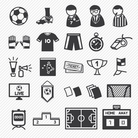voetbal pictogrammen instellen