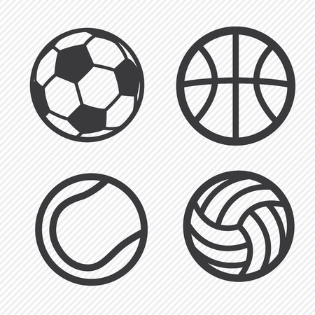 football kick: ball icons set