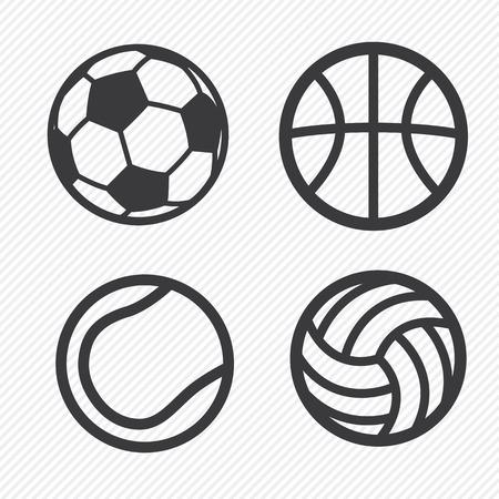 soccer: ball icons set