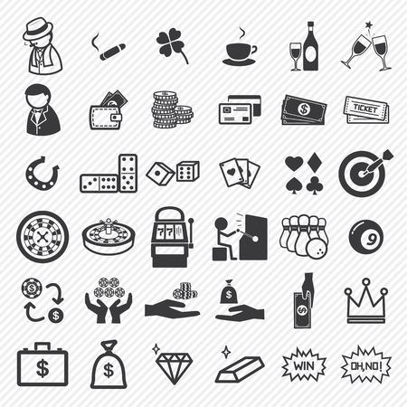 bingo: Casino icons set