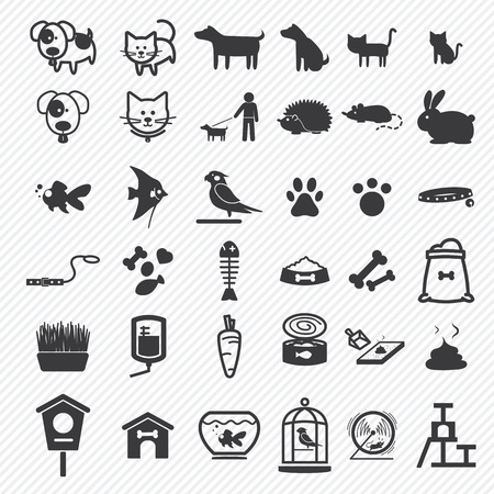 dog poop: Pet icons set