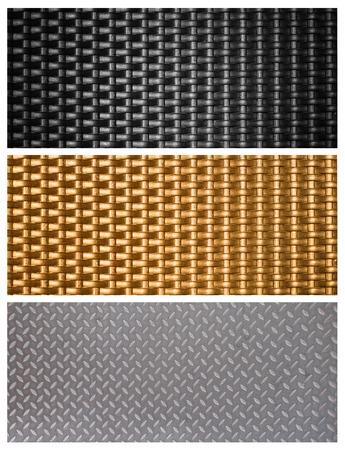 black metal weave textuur achtergrond Stockfoto