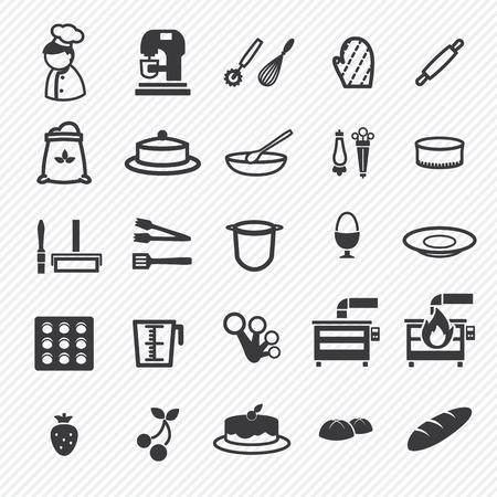 Bakkerij pictogrammen instellen. eps10