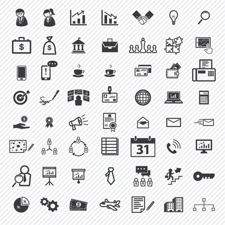 Zakelijke iconen set. illustratie eps10