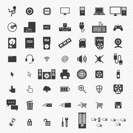 computer iconen set. eps10 Stock Illustratie