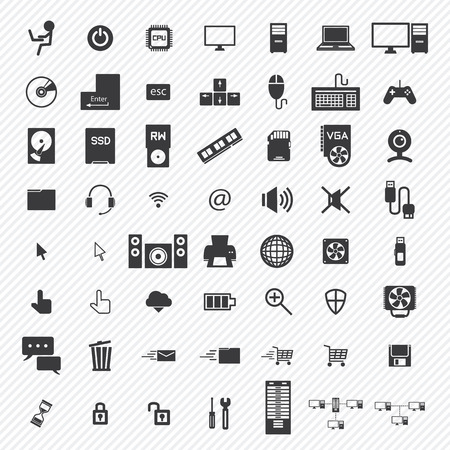 storage unit: computer icons set. illustration eps10