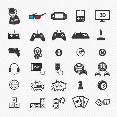 spel iconen set. eps10