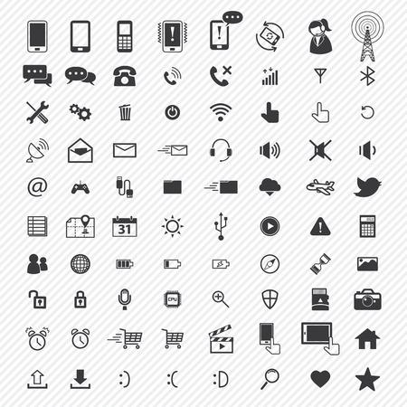 Handy-Icons gesetzt. Illustration eps10 Standard-Bild - 32392950