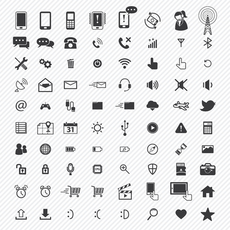 mobile application: mobile icons set. illustration eps10 Illustration