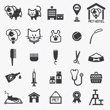 Pet Care iconen set. illustratie eps10