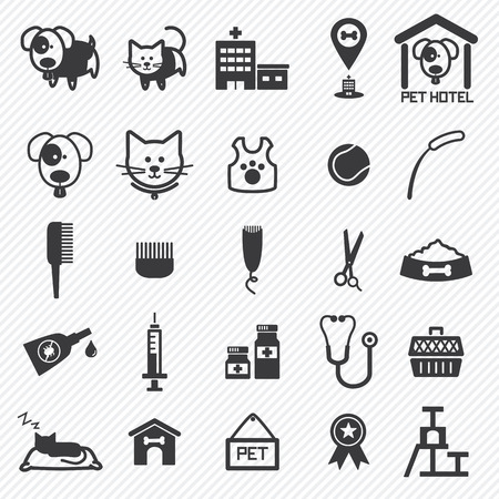 Pet Care icons set. illustration eps10 向量圖像