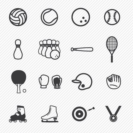 Sportpictogrammen Set.Illustration eps10