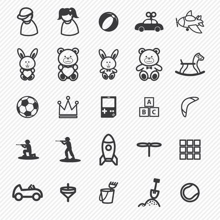 Toy pictogrammen Set.Illustration eps10