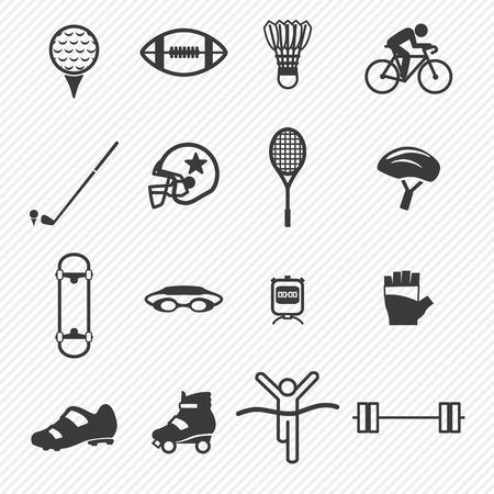 Sport icons set.illustration eps10 Vector