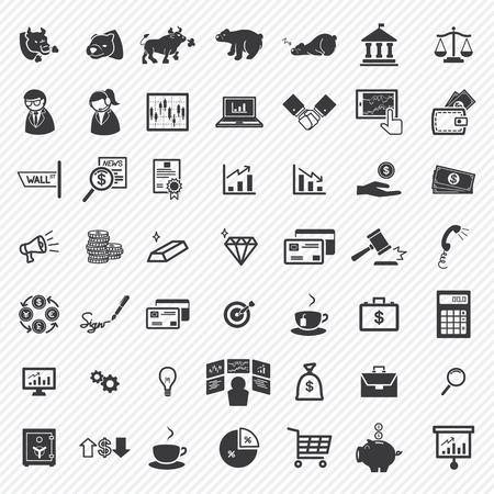 Stock financiële iconen set. illustratie eps10
