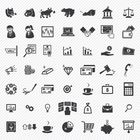 Stock financial icons set. illustration eps10 Vector
