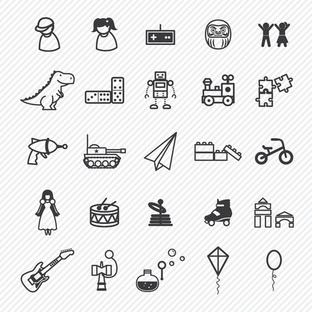 Toy icons set.illustration eps10 Vector