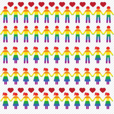 LGBT iconen set. illustratie