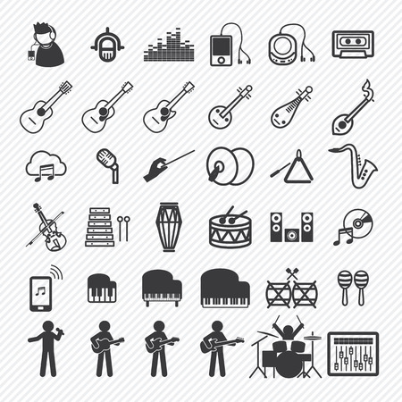 Music Icons set 2. illustratie eps10 Stock Illustratie