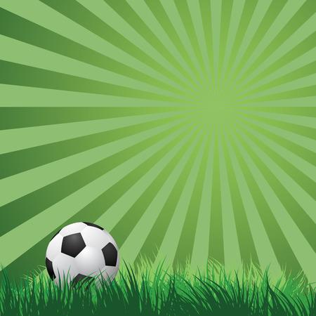 voetbal bal op groen gras. vector illustratie EPS10 Stock Illustratie