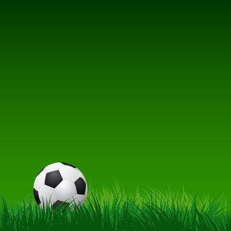 soccer ball on green grass. vector illustration EPS10 向量圖像