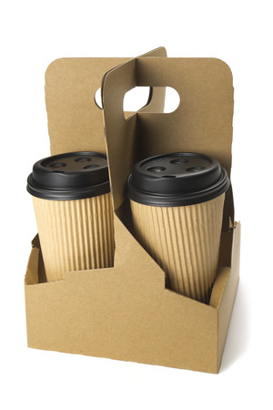 Take-out koffie in thermo cup Stockfoto