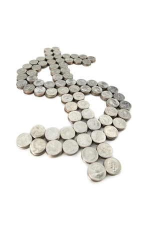 powerful creativity: dollar sign from the coins Stock Photo