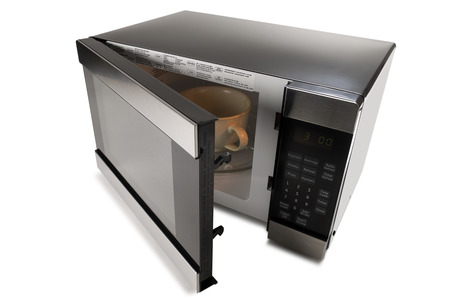 microwave: Microwave oven on a white background