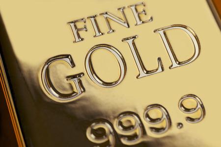 financial concept: Gold bars and Financial concept, studio shots