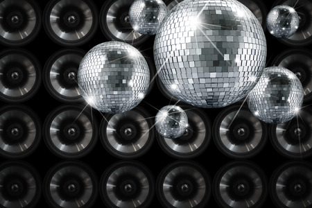 hollidays: Party lights disco mirror ball with background