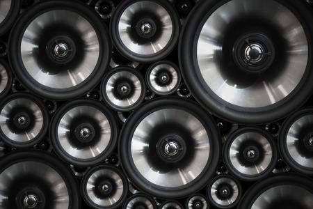 sonido: Hola sistema de audio estéreo fi altavoces de sonido de fondo Foto de archivo