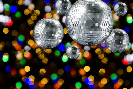 mirrorball: Disco ball and evening ornaments with lights