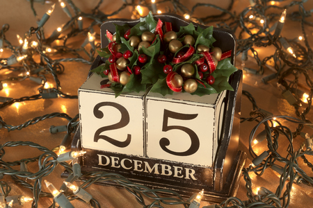 christmas calendar with 25th december on wooden blocks stock photo 47227004 - Why Is Christmas On The 25th